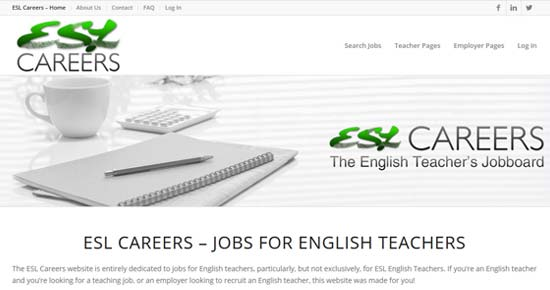 ESL Careers and Teaching Vacancies