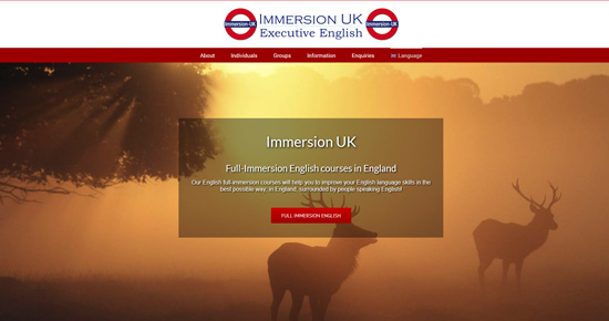 Full immersion English in England